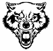 Wolf vinyl car Decal / Sticker