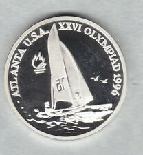 More details for 1996 romania saling/games silver proof 100 lei in near mint condition + capsule