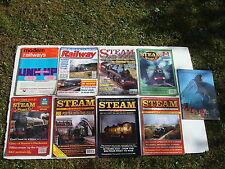 JOB LOT 7 X VINTAGE STEAM TRAIN MAGAZINES, BROCHURE + MODERN RAILWAYS FROM 1967