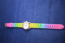 Vintage Paul Frank monkey watch with rainbow silicone band Paul012