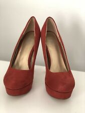 Women's Diba East Heels Suede Red 8.5M Pumps