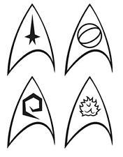 Star Trek Enterprise Division Logo Insignia Stickers - 4 Pack