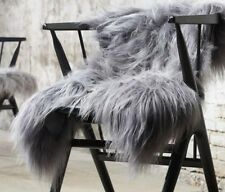 GENUINE NATURAL COLOUR GREY ® ICELANDIC sheepskin rug 100cm x 60cm