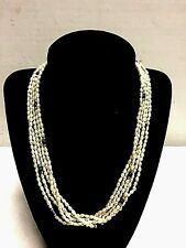 """Necklace Pearl 14K Gold clasp & beads vintage Multi strand 18"""" River Pearl"""