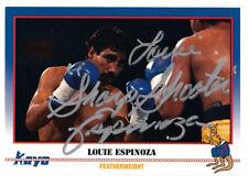 "Boxer Louie ""Sharp Shooter"" Espinoza 1991 Kayo SIGNED CARD AUTOGRAPHED"