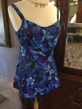 Women 14 W Swim Dress Swimwear Vintage One Piece Skirt PETER HARRIS NEW NWT