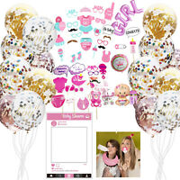 Baby Shower Photo Booth Props Girl Birthday Party Foil Balloons Decoration 41pcs