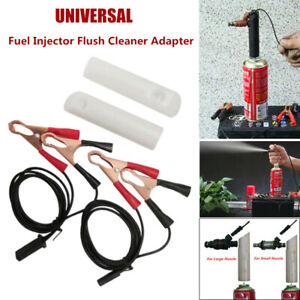 Universal Car Fuel Injector Nozzle Flush Cleaner Cleaning Adapter Tools DIY Set
