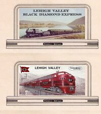 "Railroad billboard signs, HO or OO scale LEHIGH VALLEY ""Black Diamond Express"""
