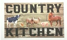 Country Kitchen Sign Wall Plaque or Hanging Pig Cow Horse Chickens Farm