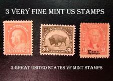 3 Great & Very Fine Mint United States Stamps, A Must Have!, Free Shipping