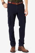 Dockers Men's Broken In Athletic Fit Cargo Pants 42x32 Navy Blue NEW