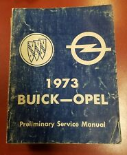 1973 Buick-Opel Preliminary Chassis Service Manual
