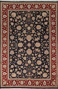 Vegetable Dye Wool/ Silk Floral Tebriz Oriental Area Rug Hand-knotted 6x9 Carpet