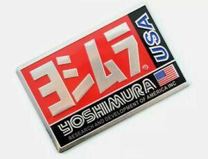 YOSHIMURA Aluminium Heat Proof Exhaust Badge Decal HONDA YAMAHA SUZUKI KTM