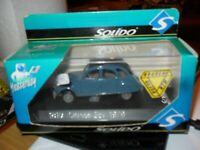 SOLIDO Citroen 2cv 1979 DIE CAST CAR Mint condition. 1/43 SCALE, 1819