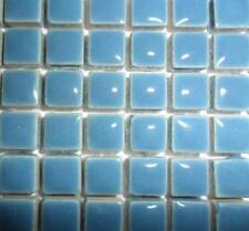 81 Mini céramique vernie tuiles de Mosaïque 10mm - Bleu poussiéreux