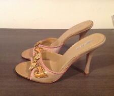 Unlisted Kenneth Cole Jawbreaker embellished gold sexy high heels shoes 8.5 EUC