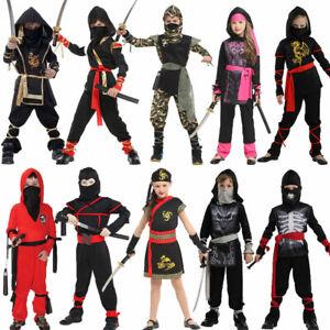 Halloween Costumes Boys Girls Dragon Ninja Costume Warrior Party Fancy Dress