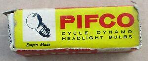 VINTAGE CYCLE DYNAMO HEADLIGHT BULBS  X 11 IN PIFCO BOX