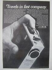 4/1971 PUB SONY MODEL 120 DELUXE AC/DC PORTABLE CASSETTE CORDER ORIGINAL AD