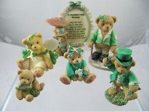 CHERISHED TEDDIES Collection x 6, Irish Theme