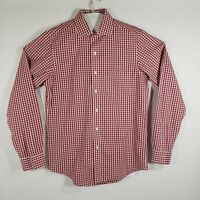 Brooks Brothers Mens Dress Shirt Button Up Long Sleeve 100% Cotton Size 15.5/35