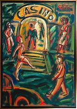 Felix Samuel Pfefferkorn *1945: Casino 1979 Gemälde Acryl auf HF 120 x 82 cm