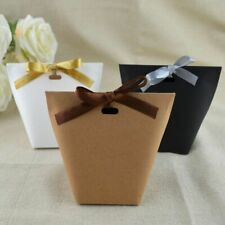 Blank Kraft Paper Bag White Black Candy Wedding Favors Gift Box Package Birthday