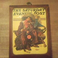 """Norman Rockwell """"Dreams of Long Ago"""" The Saturday Evening Post Wood Plaque"""