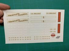 Custom Replacement Stickers for Lego 71044 Disney Train CK Holliday Lilly Belle