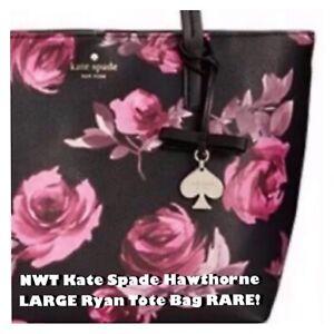 NWT Kate Spade Hawthorne Lane LARGE Roses RYAN Shoulder Tote Bag Sold For $500!