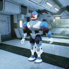 "TEEN TITANS GO! Raven + Cyborg 3.5"" ACTION FIGURE SET BANDAI 2003 - NEW RARE"