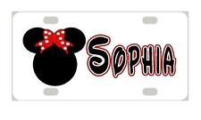 MINNIE MOUSE Personalized MINI LICENSE PLATE Kids Bicycles Motorcycles Door Sign