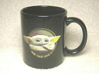 BABY YODA - STAR WARS - PORCELAIN COFFEE CUP MUG - MINE YOUR LOVE IS - BLACK