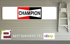 Champion Garage Banner for Workshop, Sparkplugs, Wipers, Filter, Retro, Rally,