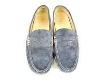 Polo Ralph Lauren Wessell Penny Loafer Driving Mens 15 D Blue Suede Shoes Moc