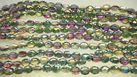 Joblot 10 strings Multi colour Oval faceted 25mm Crystal beads new wholesale