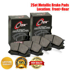 Centric Front & Rear Metallic Brake Pads 2SET For Cadillac CTS 2004