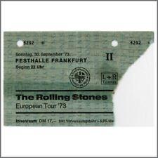 Rolling Stones Frankfurt Festhalle 1973 Concert Ticket Stub (Germany)