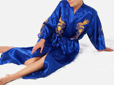 Japanese Chinese Kimono Dressing Gown Bath Robe Nightwear Men's Silk/Satin New