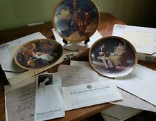 Set Knowles Plates 1,2 &3 in the Rockwell's Rediscovered Women collection. Boxes