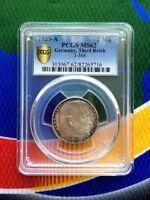 PCGS MS 62 1939 A 2 mark German WWII Silver Coin Third Reich Reichsmark 5*