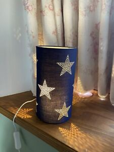 GLTC Blue Star Bedside Lamp Navy Stars New Boxed Kids Bedroom