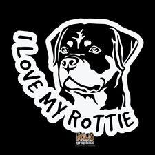 I LOVE MY ROTTIE Vinyl Sticker / Decal AKC Registered Dog Breed ROTTWEILER