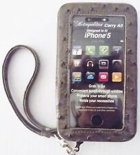 New Metropolitan iPhone 5 Wristlet Wallet Gray Phone Case Organizer