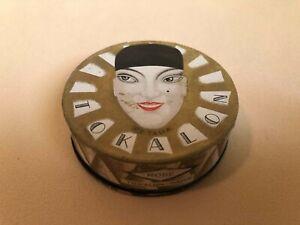 "RARE GREEK ART DECO FACE POWDER ""TOKALON PARIS PETALIA PARFUM SAUVE"" 1930s"