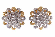 0.85 Cts Round Brilliant Cut Natural Diamonds Stud Earrings In Hallmark 18K Gold