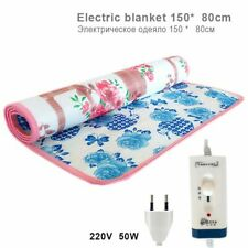 Electric Heating Blanket Double Body Printed Waterproof Warmer Mat 220V 150*80CM