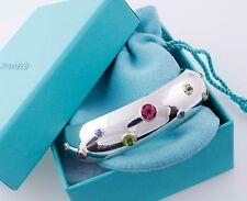 Tiffany&Co Etoile Gemstone Peridot Sapphire Tourmaline Bracelet Cuff Bangle